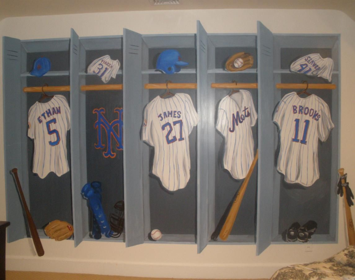 Mets Baseball Locker Room Wall Mural