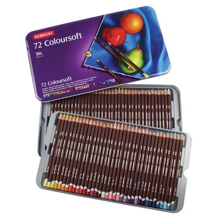 Derwent Coloursoft Tin Of 72 120 Art Supplies Colored
