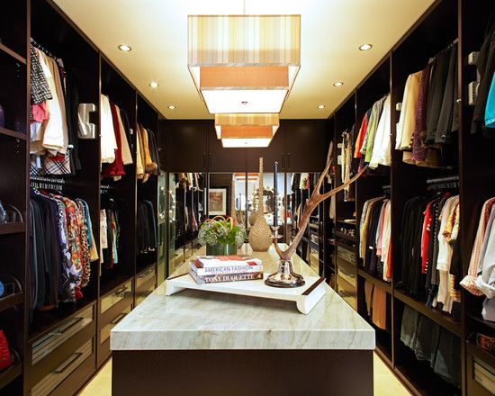 Awesome Newport Beach Closet With MILES Of Custom Storage In Rich Wood Tones