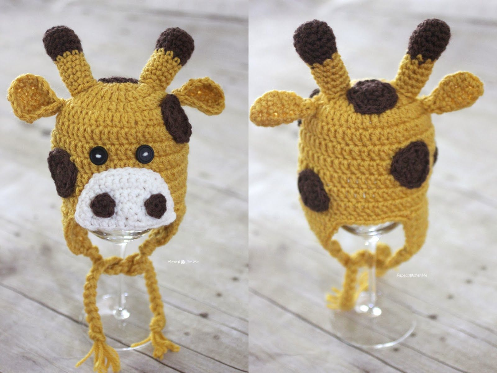 Crochet Giraffe Hat Pattern | Crochet-baby items | Pinterest ...