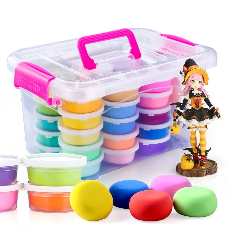 24colors diy soft polymer modelling clay set with tools
