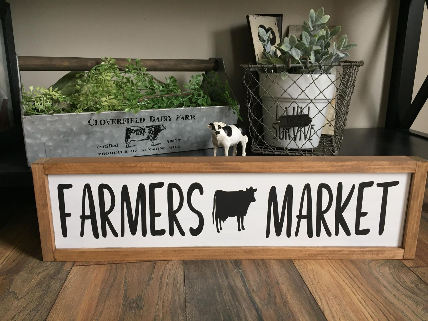 Farmers Market Sign | Farmhouse Kitchen Decor | Farmhouse Kitchen Sign | Farmers  Market | Farmhouse