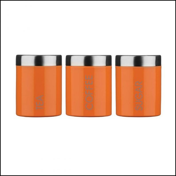 Kitchen Burnt Orange Canisters Modern