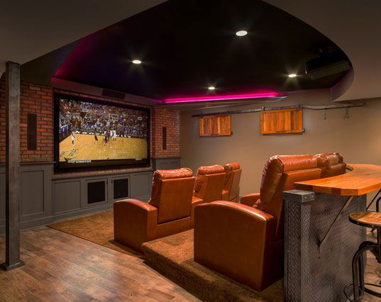 45 Amazing Luxury Finished Basement Ideas | Remodelación del hogar
