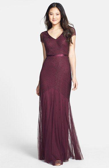 Burgundy wine color dress