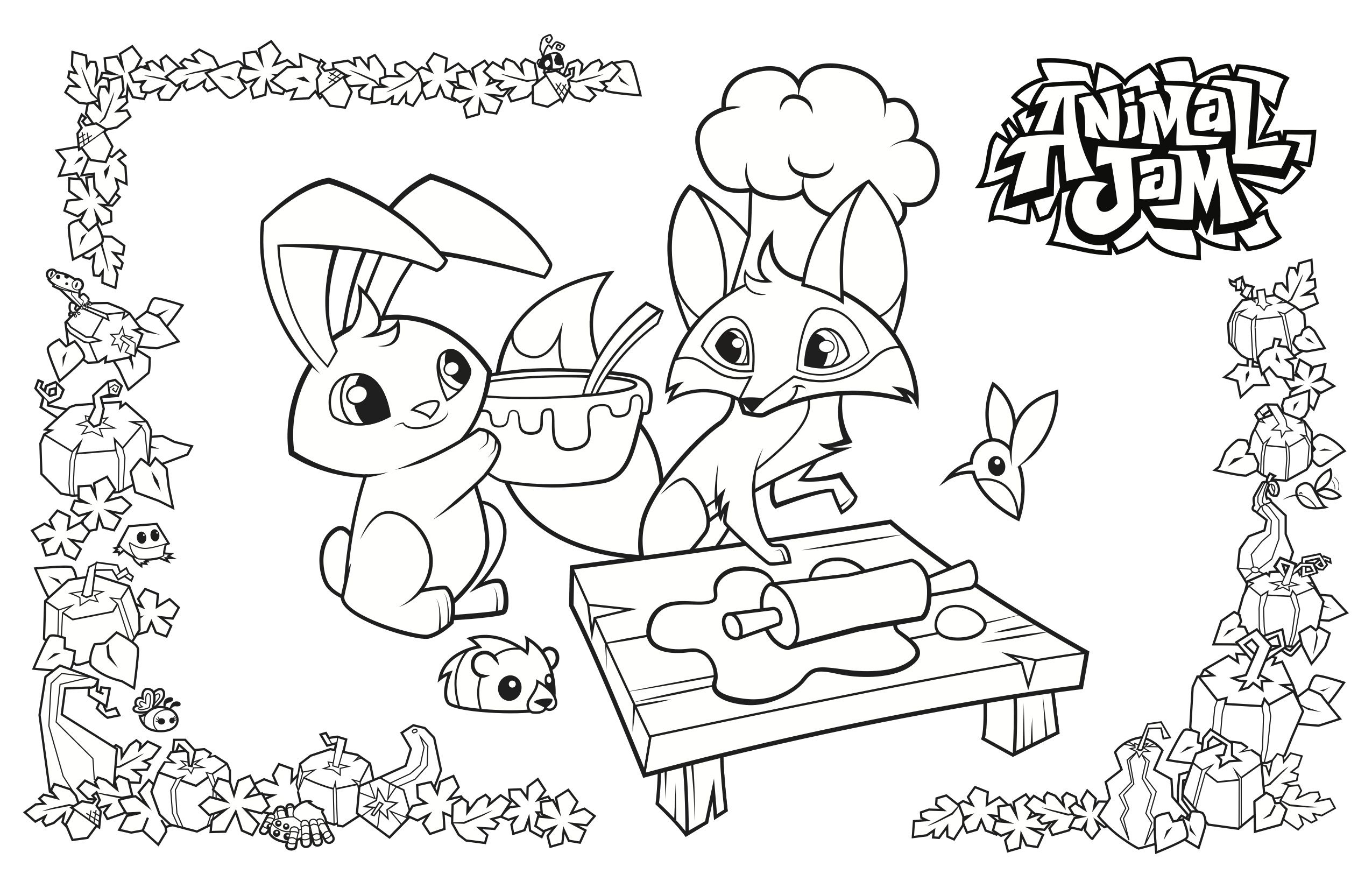 Hey Jammers Download These Amazing Feast Of Thanks Coloring Pages And Placemats Have Fun And Playwil Animal Jam Animal Coloring Pages Cartoon Coloring Pages