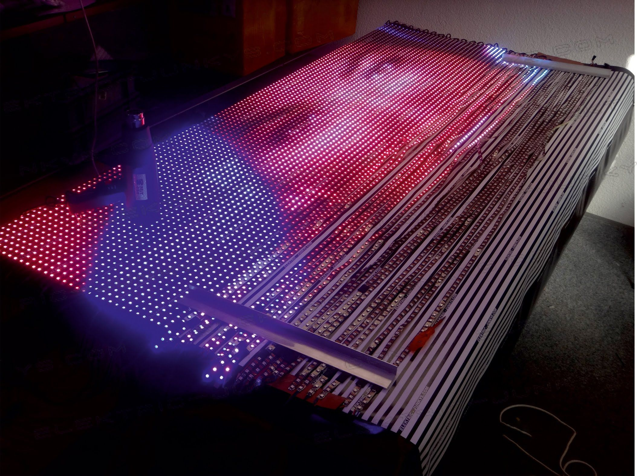 Diy Led Wall Display As Far As My Math Goes This Is Cheaper Than