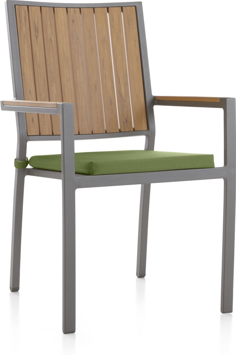 Alfresco Ii Natural Dining Arm Chair With Sunbrella Cushion Reviews Crate And Barrel