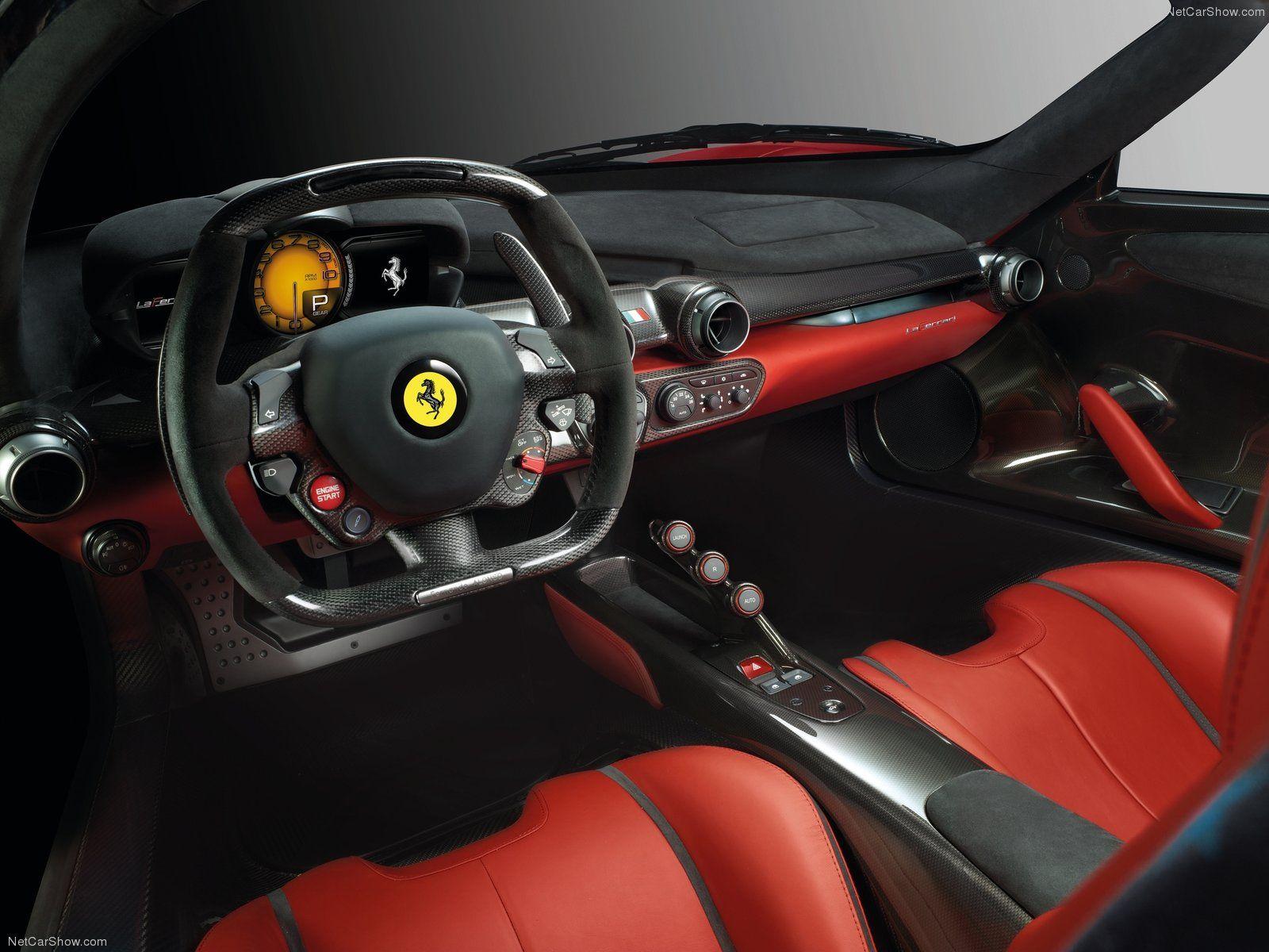 Black Ferrari Concept Cars | 2014 LaFerrari Concept Car Interior   HD  Wallpapers