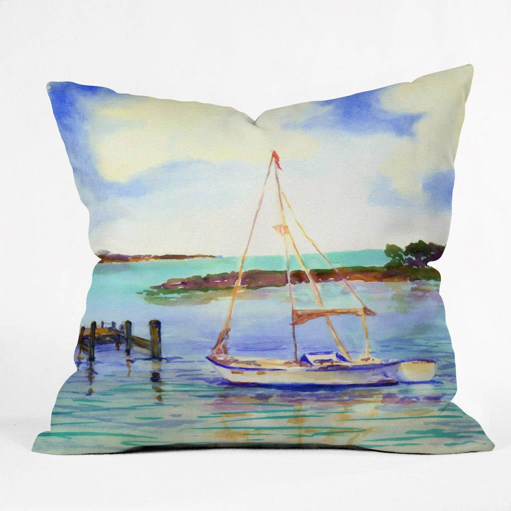 Laura Trevey Summer Sail Indoor Throw Pillow