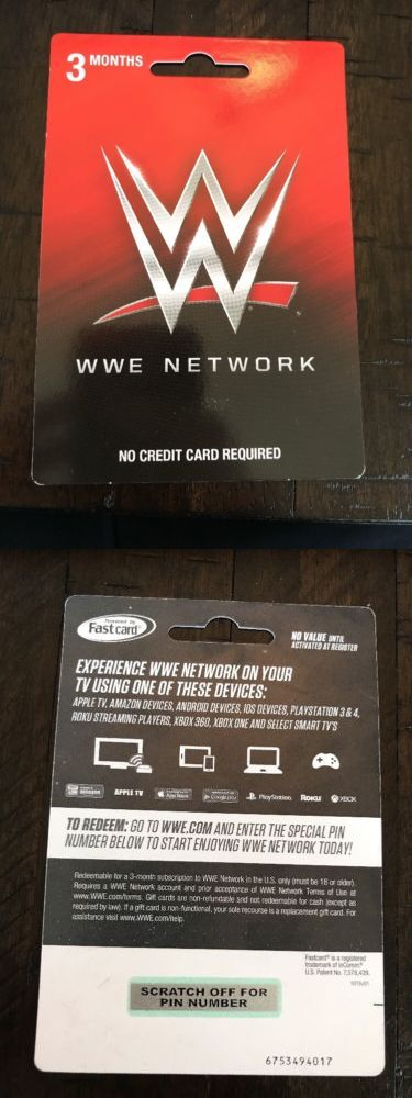Prepaid Gaming Cards 156597 Wwe 3 Month Network Subscription Card Buy It Now Only 30 On Ebay Prepaid Gaming Cards Mon Ps4 Gift Card Card Games Cards