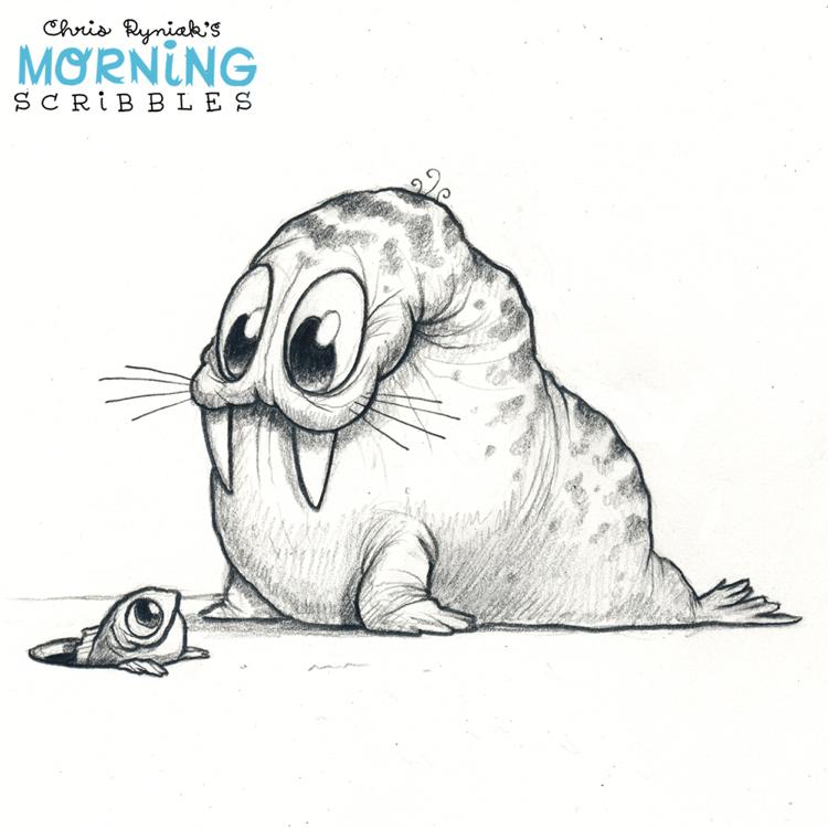 Morning Scribbles #661 in 2019 | Sketch | Cute monsters ...