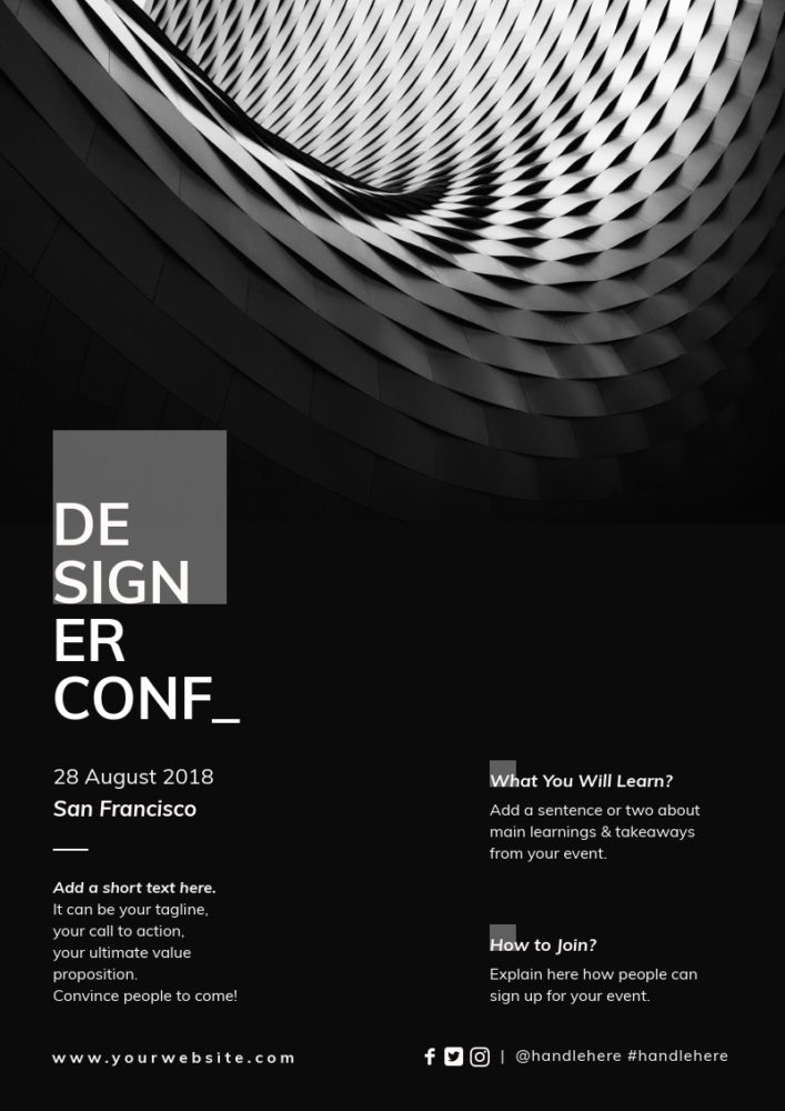 Get Inspired By These 30 Event Poster Designs And Make Your Own Piktochart Event Poster Design Event Flyers Event Poster