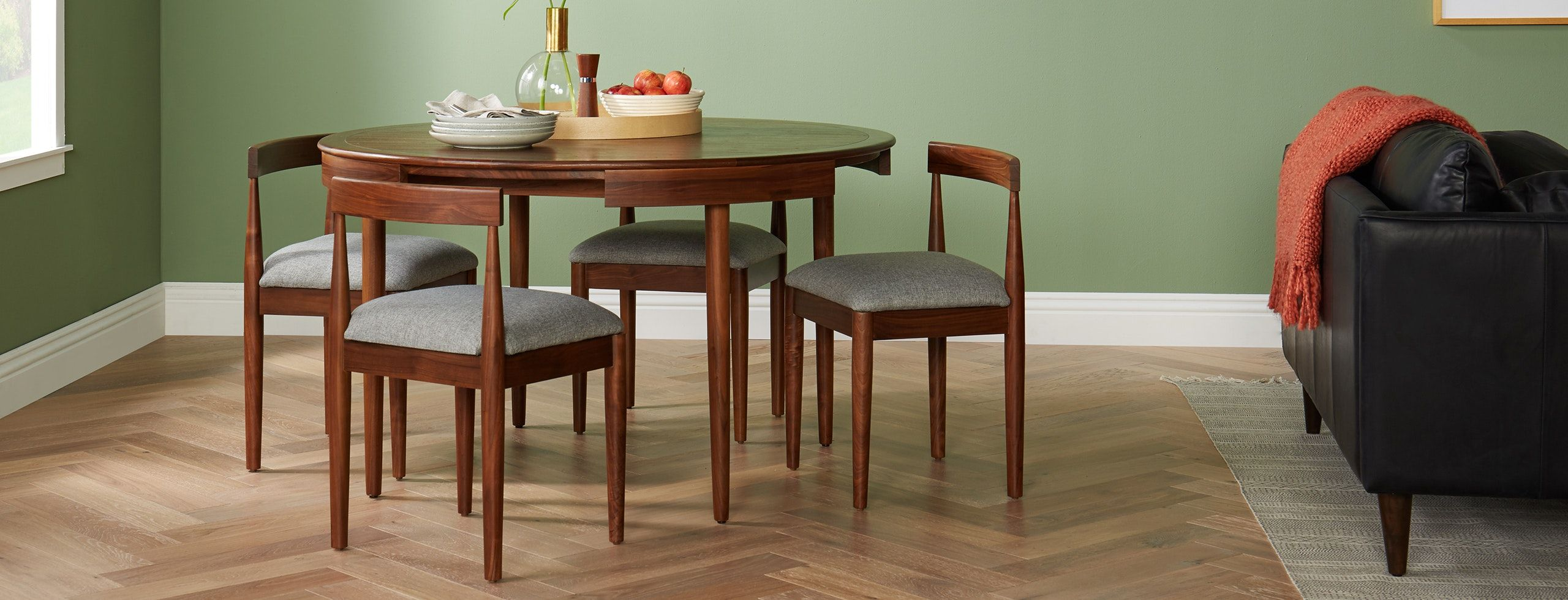 Toscano Dining Set Joybird Mid Century Modern Dining Room Table