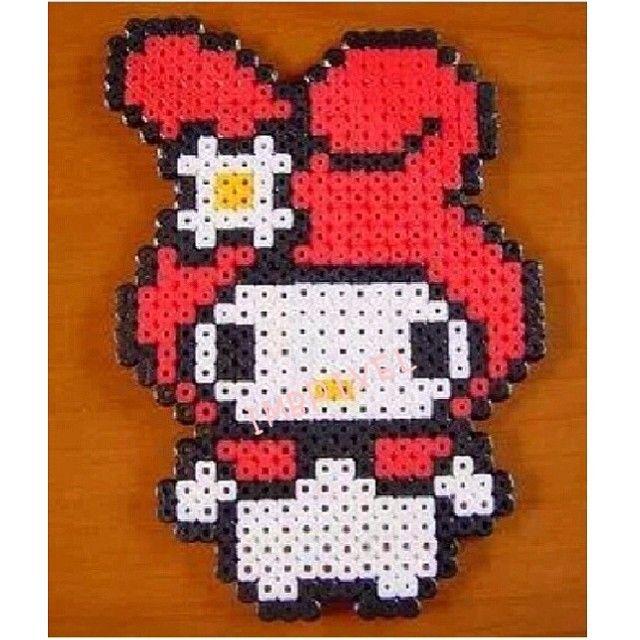 My Melody Sanrio perler beads by imbpixel | Perler Beads