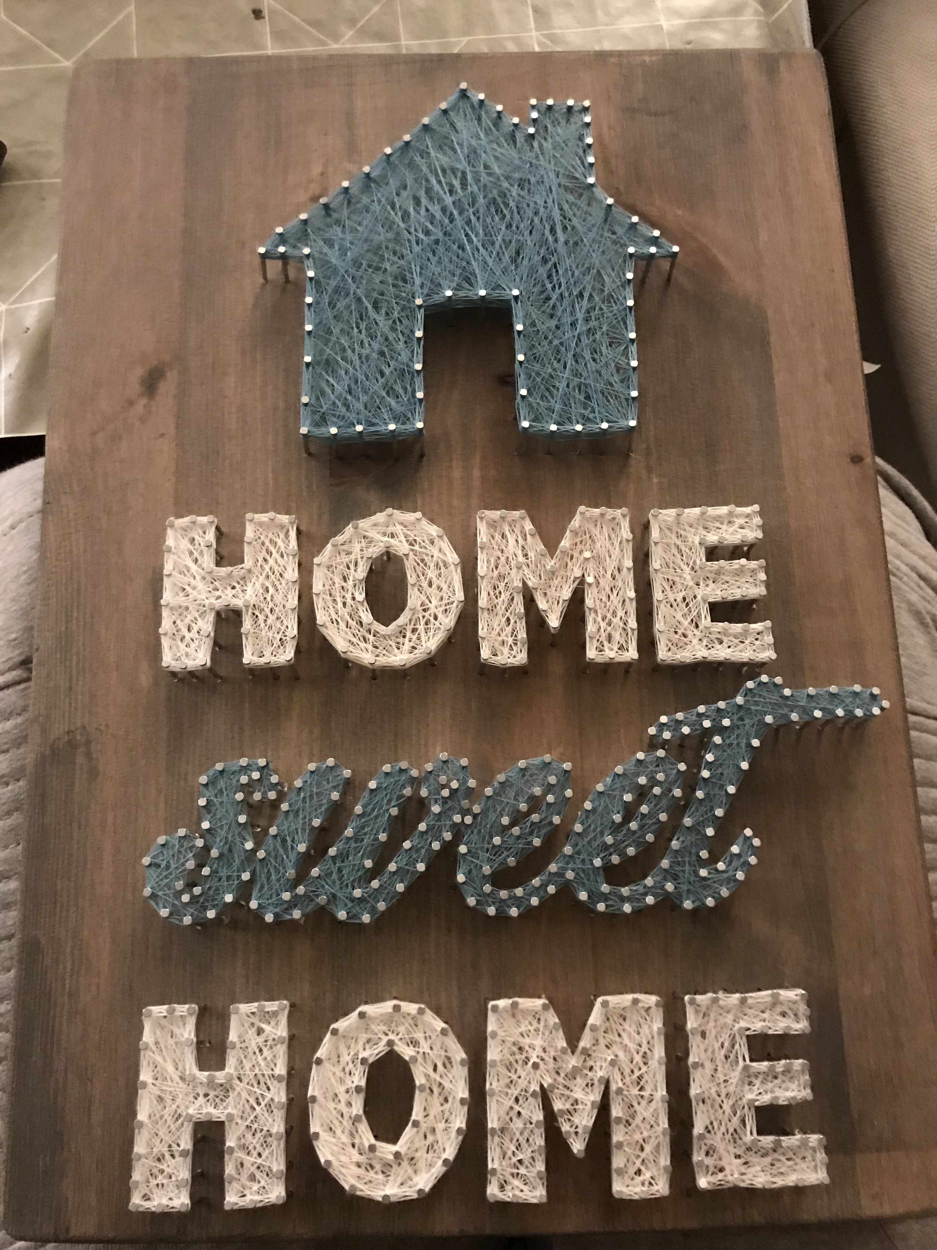 Home Sweet home string art | Deko | Pinterest | Deko