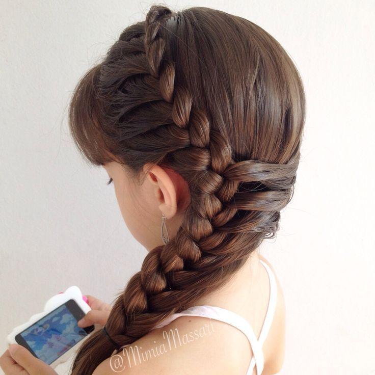 Pin de neivelin rafaela en peinado niñas Pinterest Trenza - peinados de nia faciles de hacer