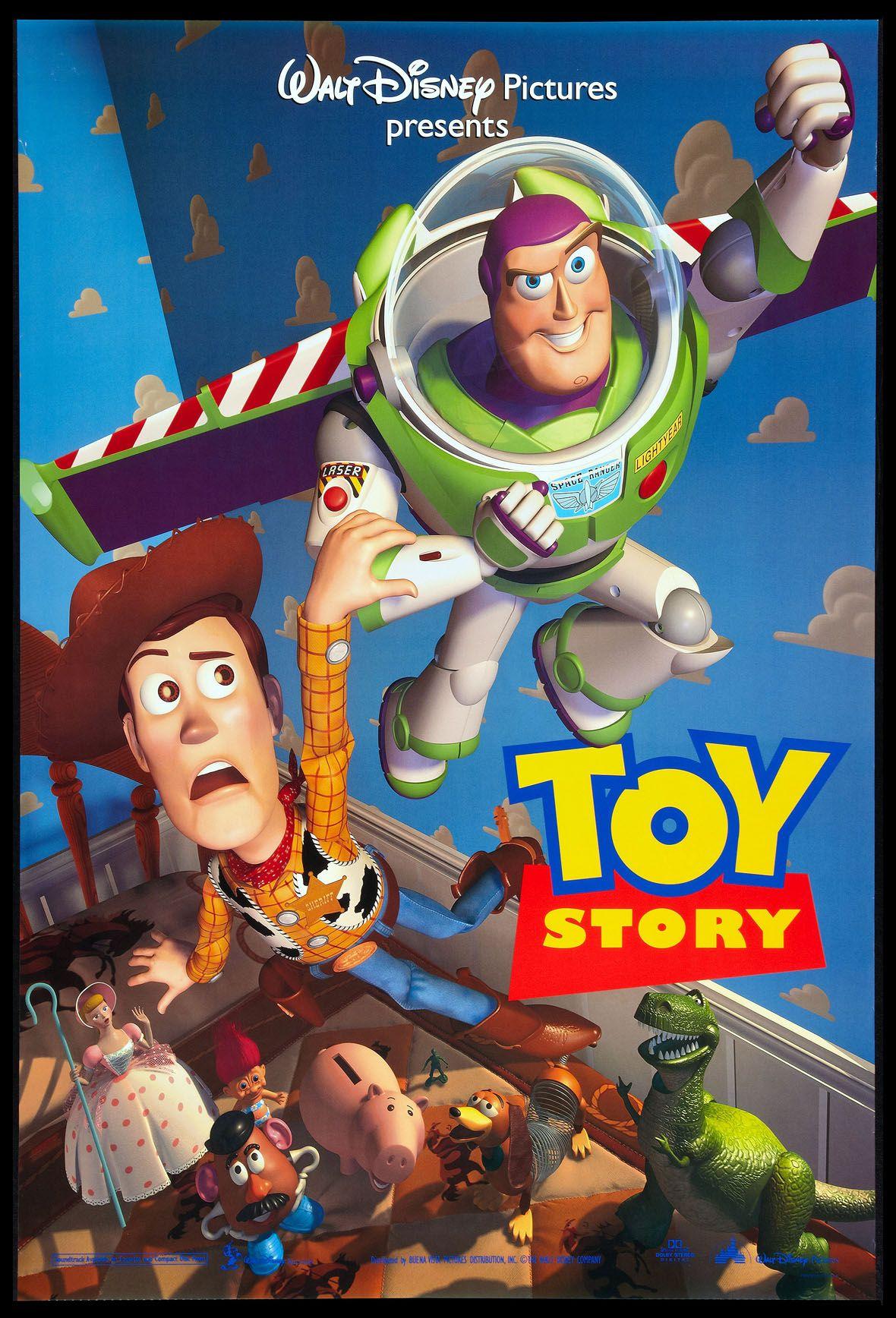 Toy Story 1995 Original One Sheet Size 27x40 Movie Poster Toy Story Movie Disney Movie Posters Toy Story 1995