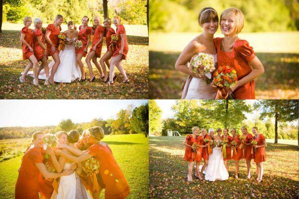 Turquoise Bridesmaid Dresses Orange Flowers 2014-2015 | Fashion Trends 2015-2016