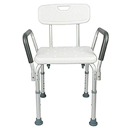 Ctkcom Shower Chair With Back Best Bathtub Chair For Handicap Disabled Seniors Elderly Adjustable Medical B Shower Chair Shower Chairs For Elderly Chair