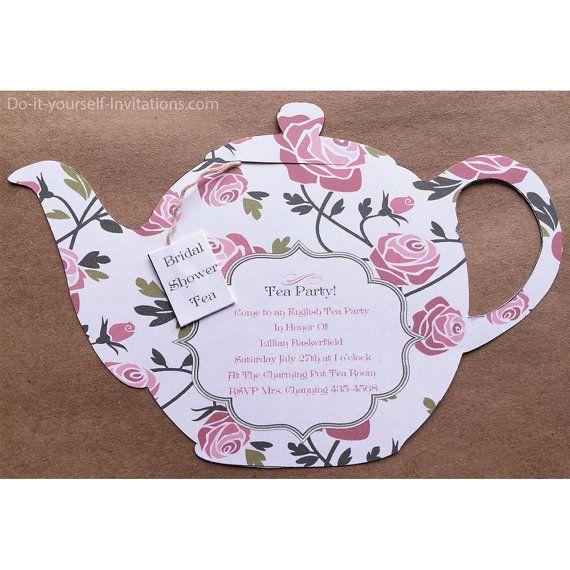 Printable Tea Party Invitation Bridal Tea by DoItYourselfInvites