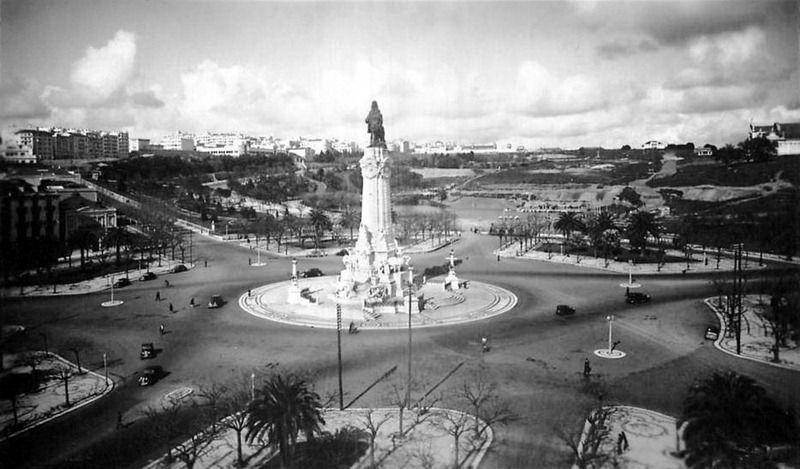 Praça Marquês de Pombal, em 1938 Lisboa #Portugal