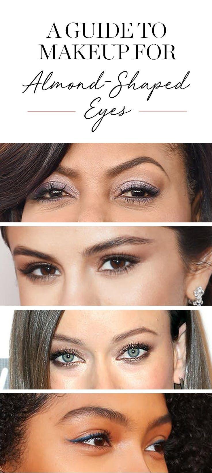 Makeup tricks for almond eyes  Almond shaped eyes, Eye makeup