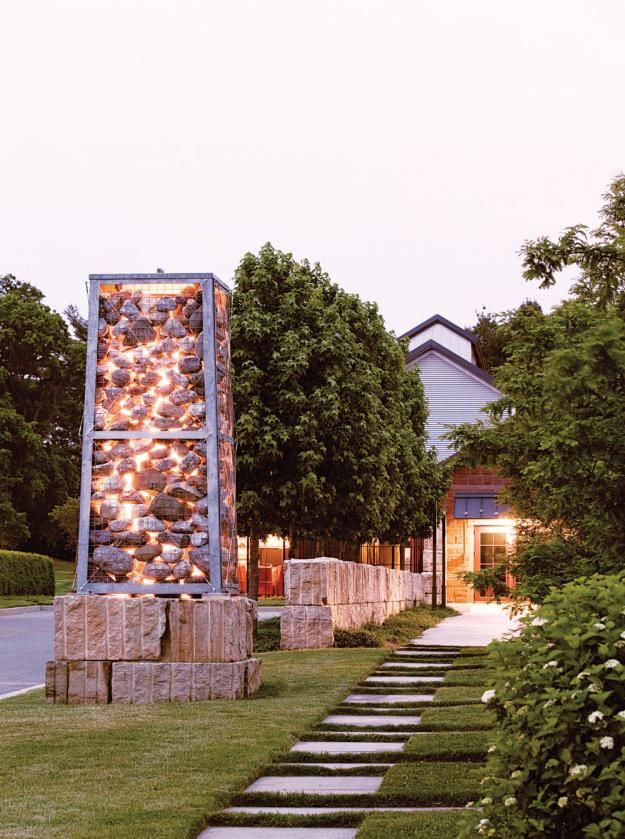 Gabion lighted from within. | Gabion Work | Pinterest | Stone walls on stone building home, quonset hut home, stone castle home, stone arch home, stone cave home, stone wall home, stone temple home,