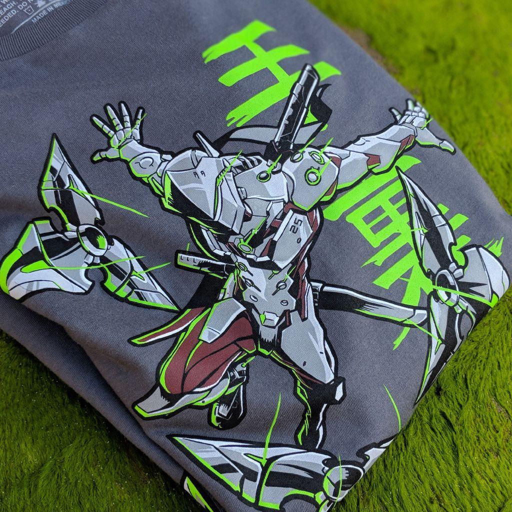 Officially Licensed Overwatch Genjis Warrior Spirit Men/'s Premium T-Shirt