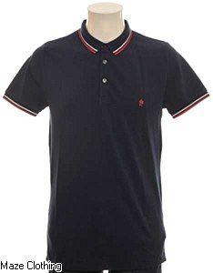 French Connection Pique Polo Shirt Navy - Maze Clothing