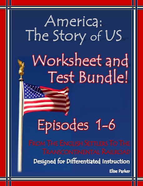america the story of us worksheets and quizzes episode 1 6 bundle multiple choice worksheets. Black Bedroom Furniture Sets. Home Design Ideas