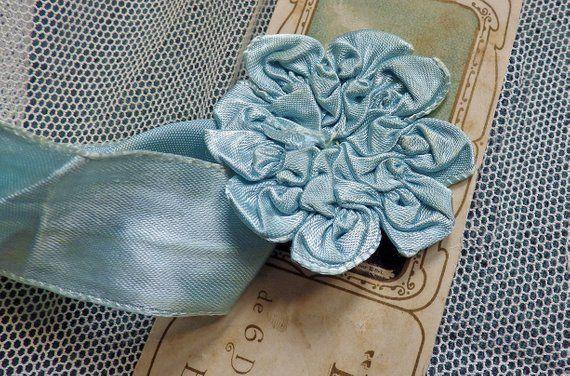 12y Antique French Ivory Silk Pastel Metal Plate Thread Metallic Passementerie Braid Gimp Ribbon Trim Lace Edwardian Doll Hat Bonnet Dress