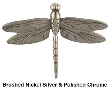 Brushed Nickel Silver Dragonfly Door Knocker Knockers