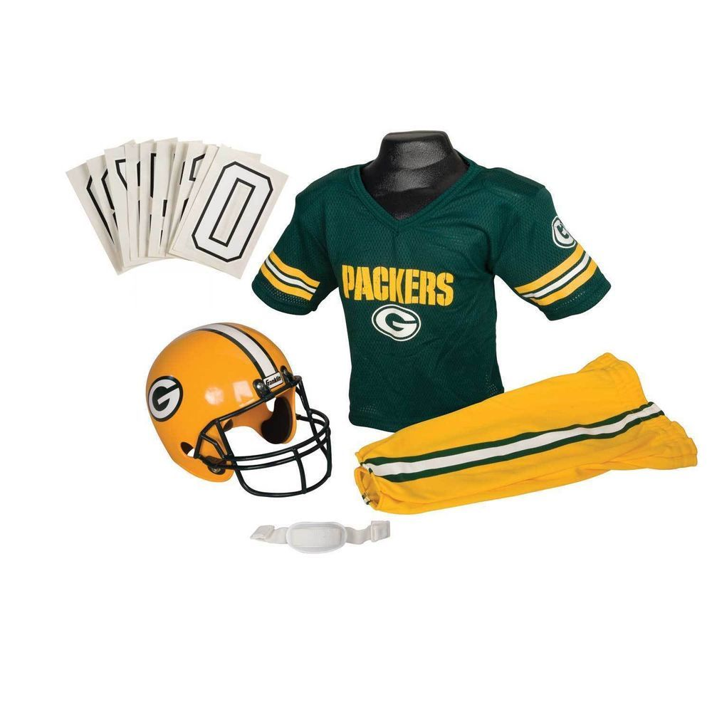 Green Bay Packers Jersey Youth Medium Uniform Set Nfl Football Helmet Boys Gift Franklin Greenbaypackers Franklin Sports