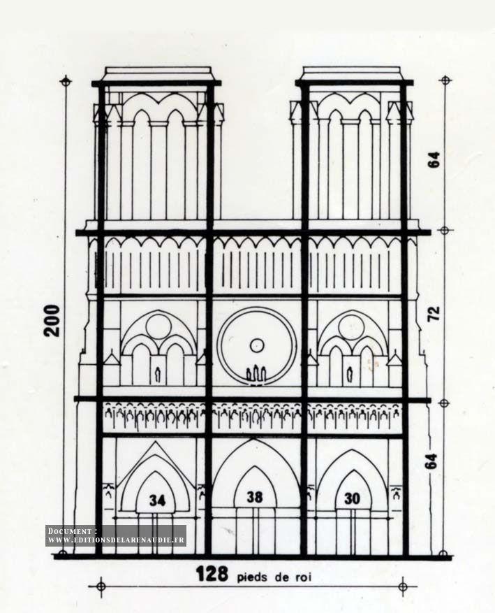 Notre Dame De Paris Front Dimension Gothic Architecturenotre
