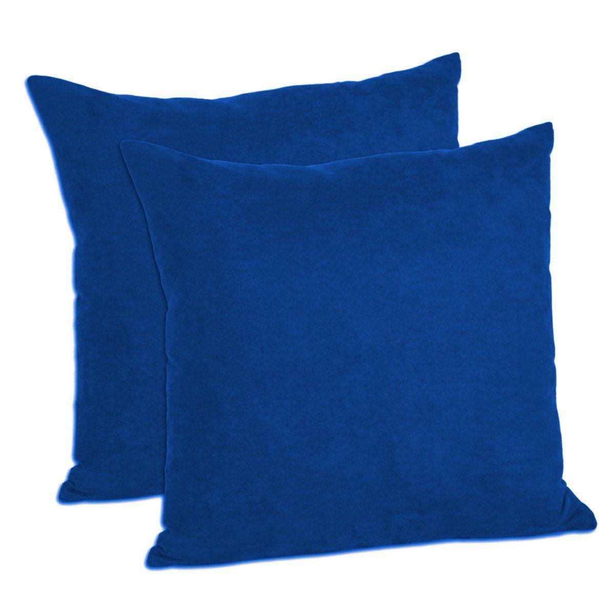 MoonRest - Faux Suede Decorative Pillow Shams Solid Colors