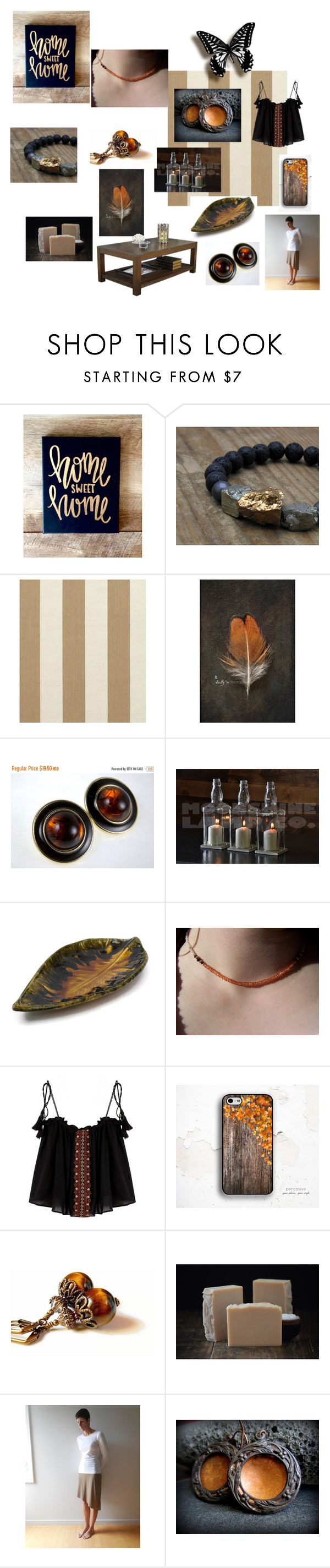 Home Sweet Home by inspiredbyten on Polyvore featuring interior, interiors, interior design, home, home decor, interior decorating, Sunbrella, rustic and etsy