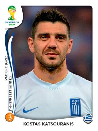Grecia Kostas Katsouranis Copa Do Mundo Mundial Brasil 2014 E