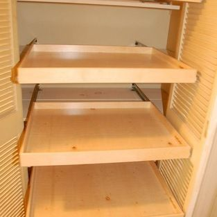 Linen Closet Pull Out Shelves This Is A Hallway Outed With Custom