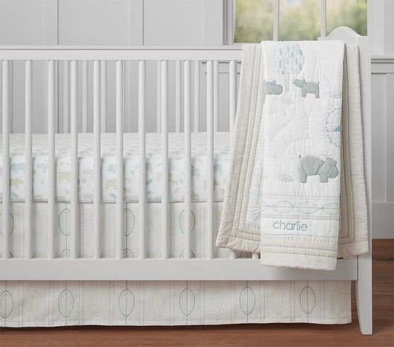 Charlie Hippo Baby Bedding Animal Baby Bedding Organic Nursery