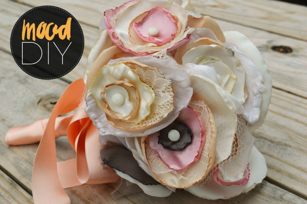 Mood DIY: Fabric Flower Bouquet   Make your special day even more ...