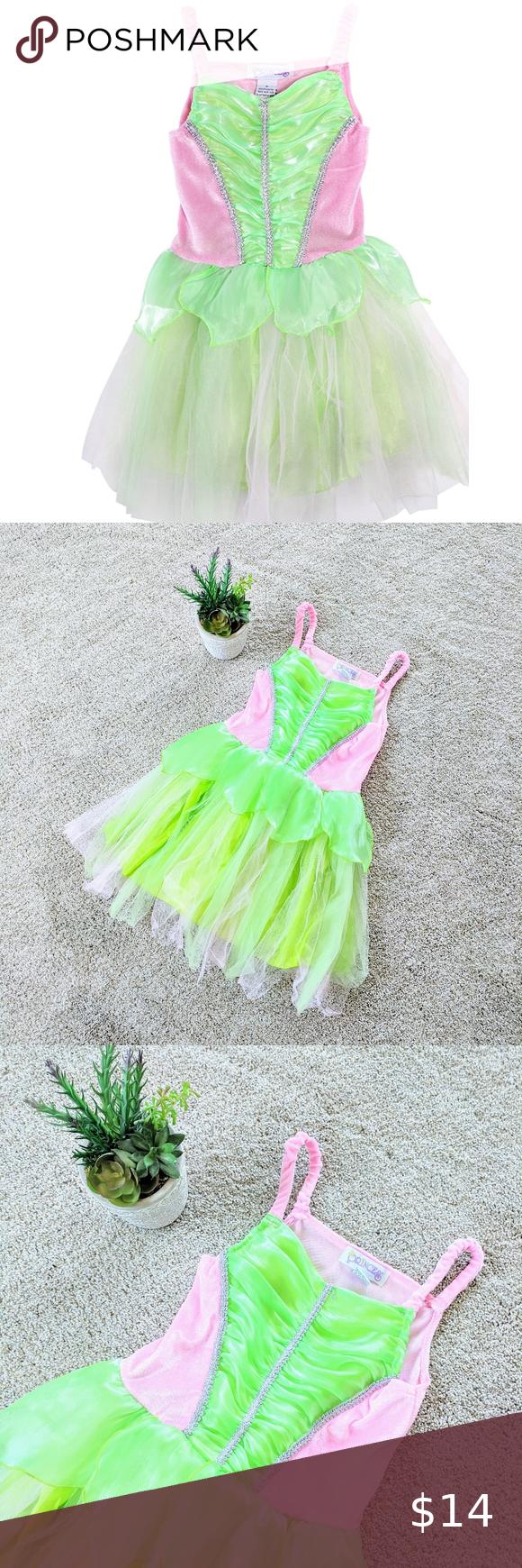 Green Tinkerbell Costume Dress Tinker Bell Costume Costume Dress Princess Costumes [ 1740 x 580 Pixel ]