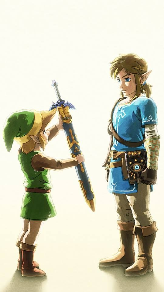 Zelda Breath Of The Wild And A Link Between Worlds Official Art