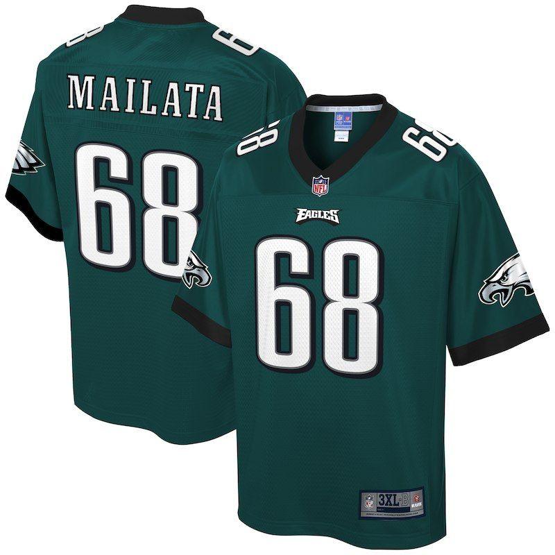 Jordan Mailata Philadelphia Eagles NFL Pro Line Big   Tall Player Jersey – Midnight  Green 75df0be32cc