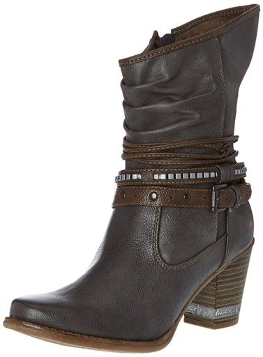 bas prix cacb9 56ba0 bottines femme mustang 1147508 | Shoe porn | Boots, Shoes ...