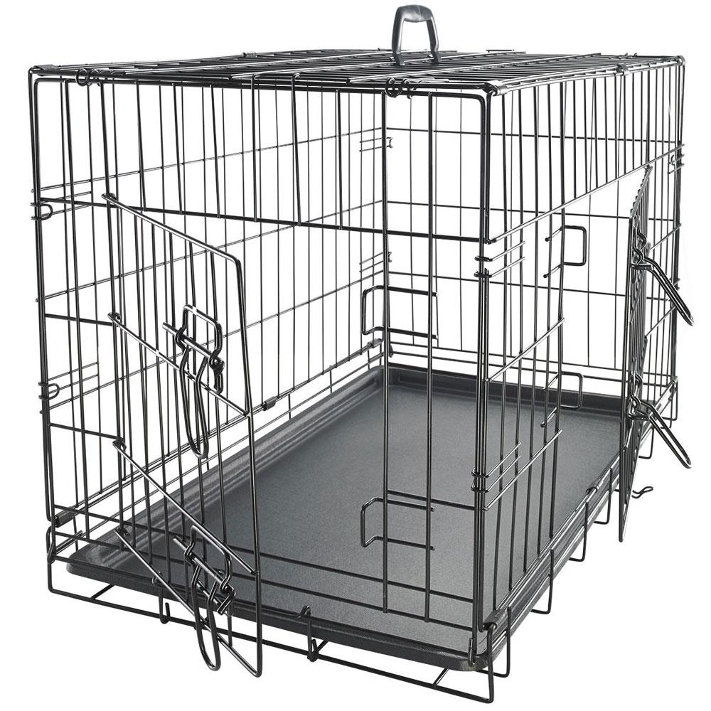 Ktaxon 42 Secure And Flodable Double Door Metal Dog Crate Include Leak Proof Plastic Tray Black Walmart Com In 2021 Wire Dog Crates Xxl Dog Crate Large Dog Crate