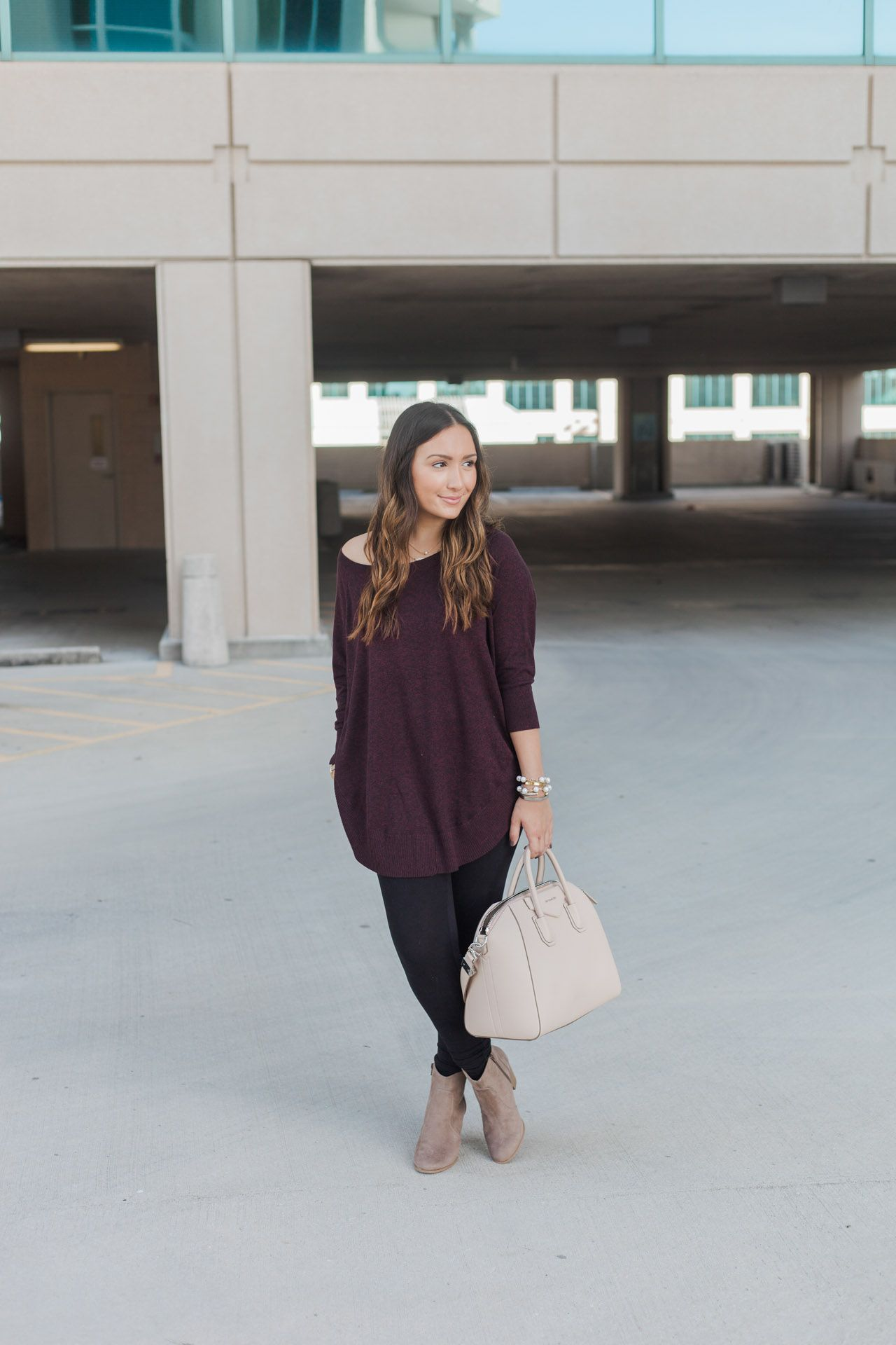 Burgundy Sweater | Burgundy sweater, Fashion bloggers and Fall winter