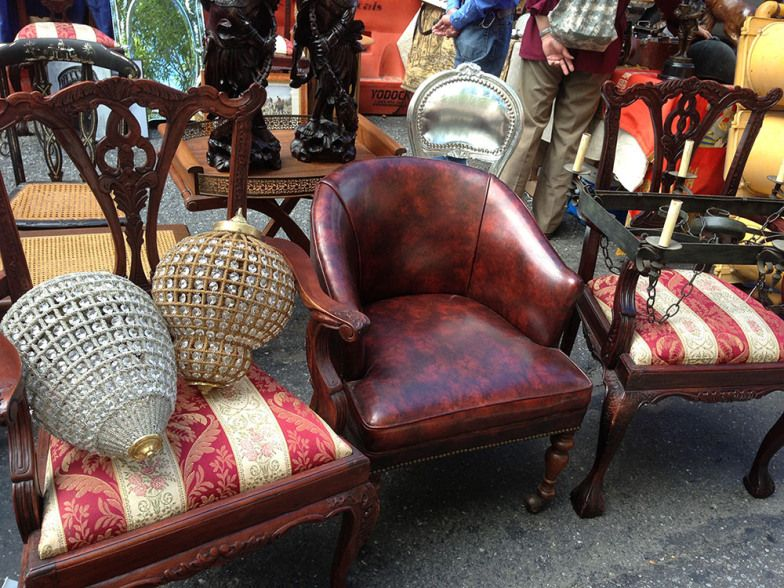 Looking for antique furniture in NYC? Check out this flea market in Hell's  Kitchen, NY. Find Antique chairs in NYC and antique furniture in NYC. - Hells-kitchen-flea-market-antique-chairs-nyc-1 At The Markets