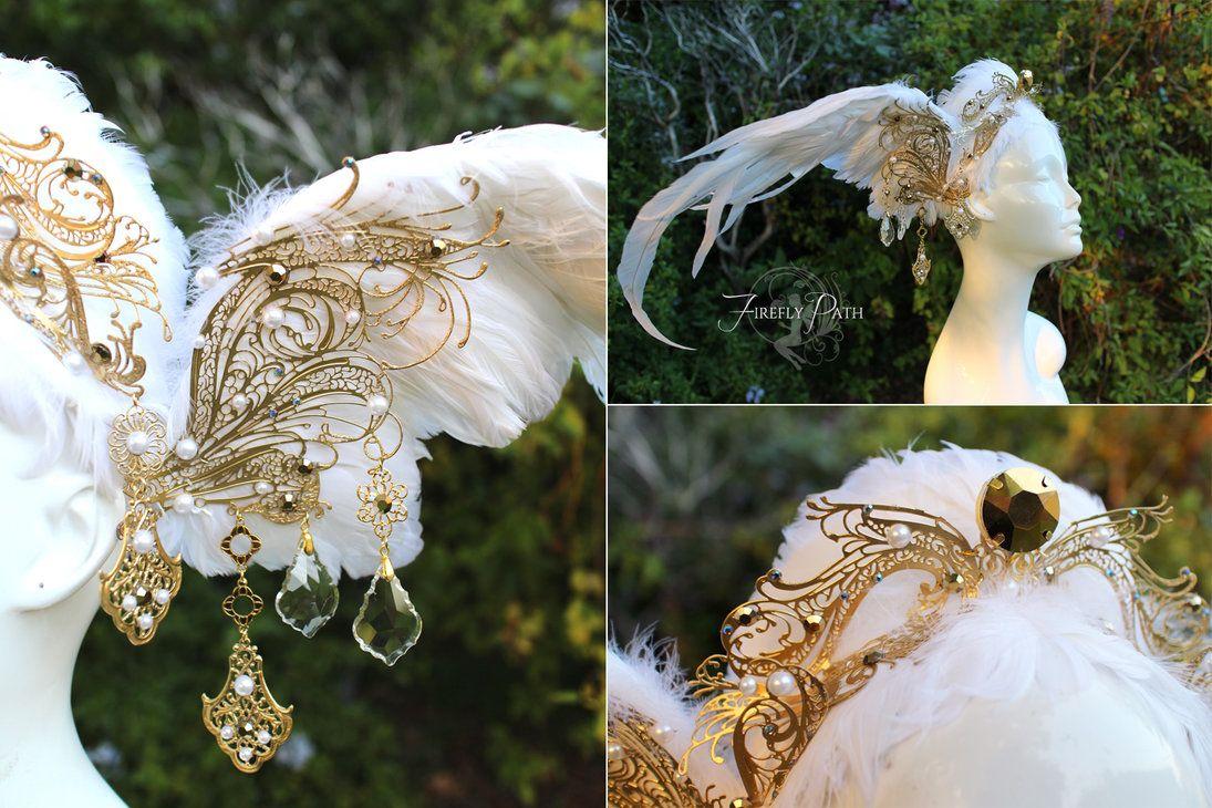 Swan Headdress by Lillyxandra on DeviantArt