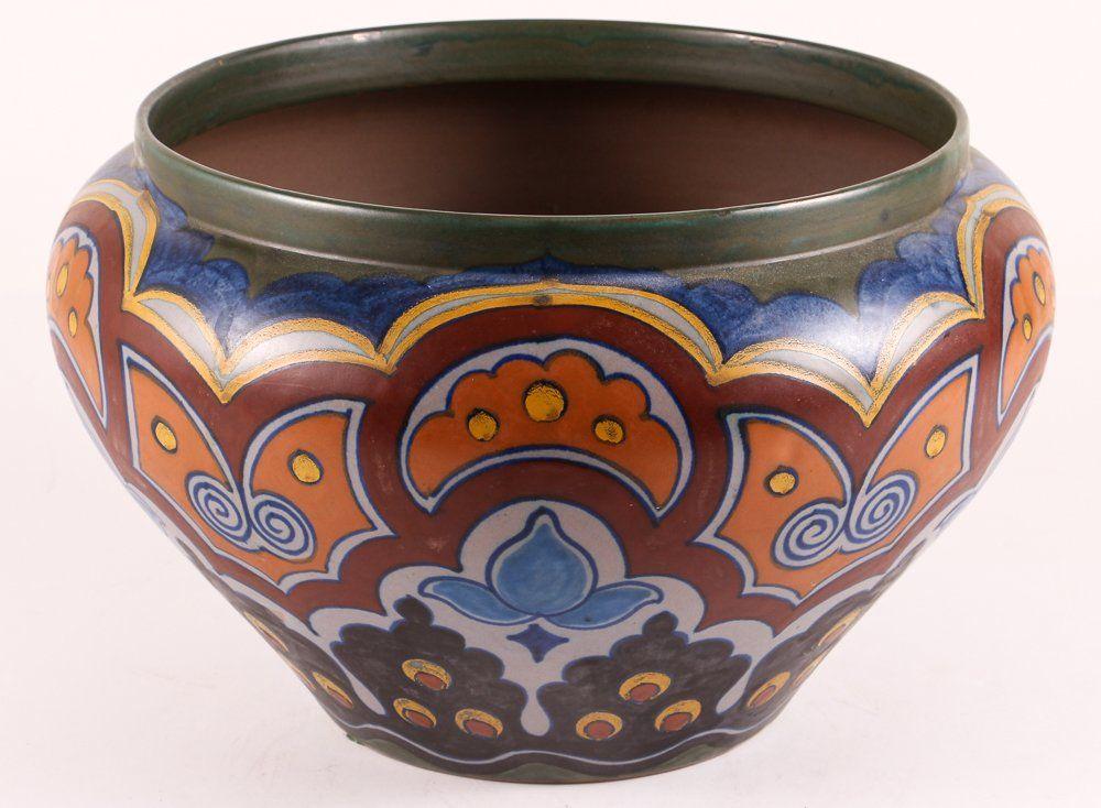 Large Gouda Pottery Jardiniere Pottery Dutch Ceramic Gouda